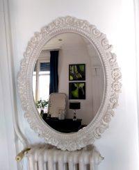 Espejo Blanco labrado flores-1