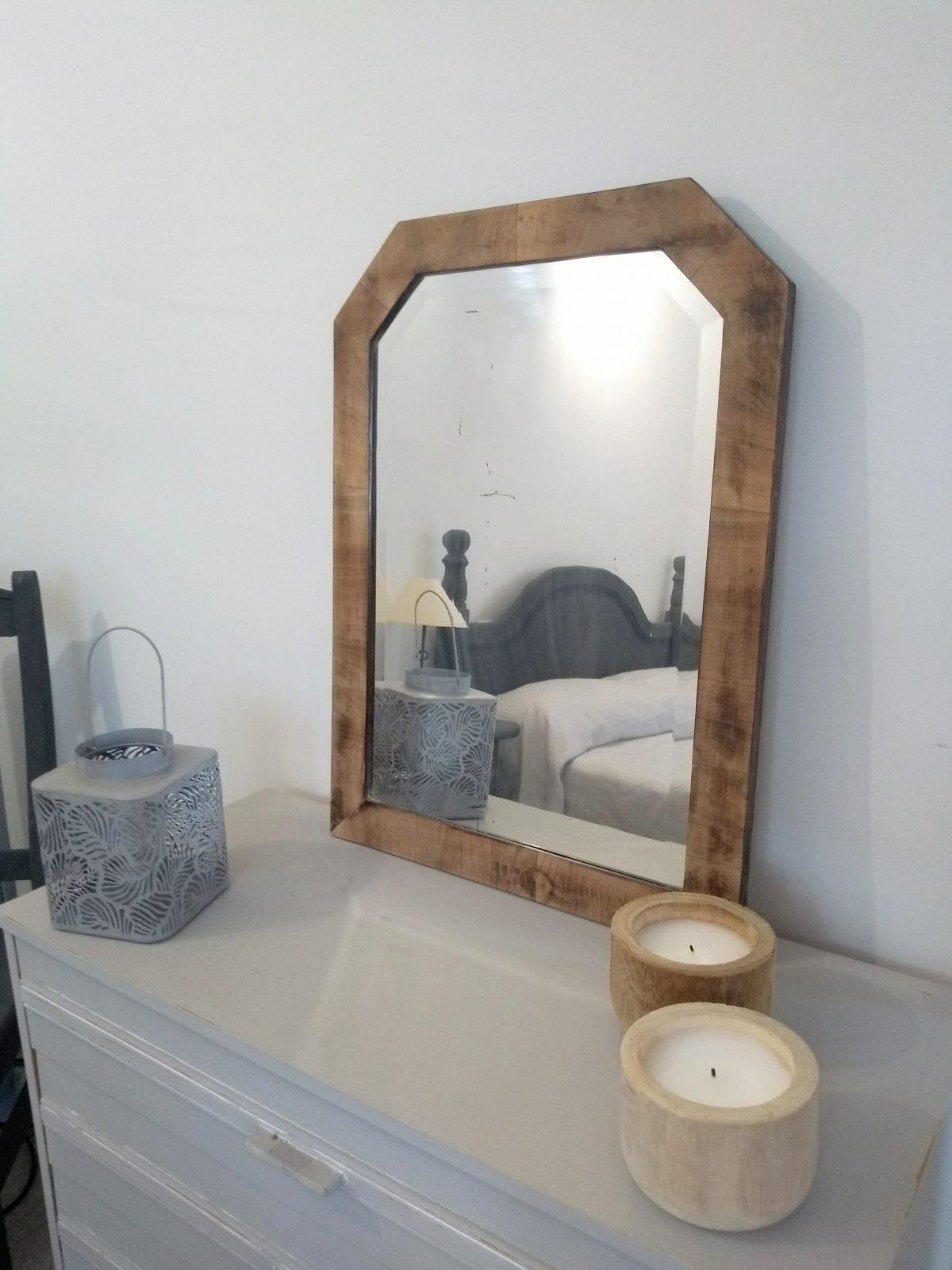 Espejo antiguo madera natural Rincón Vintage
