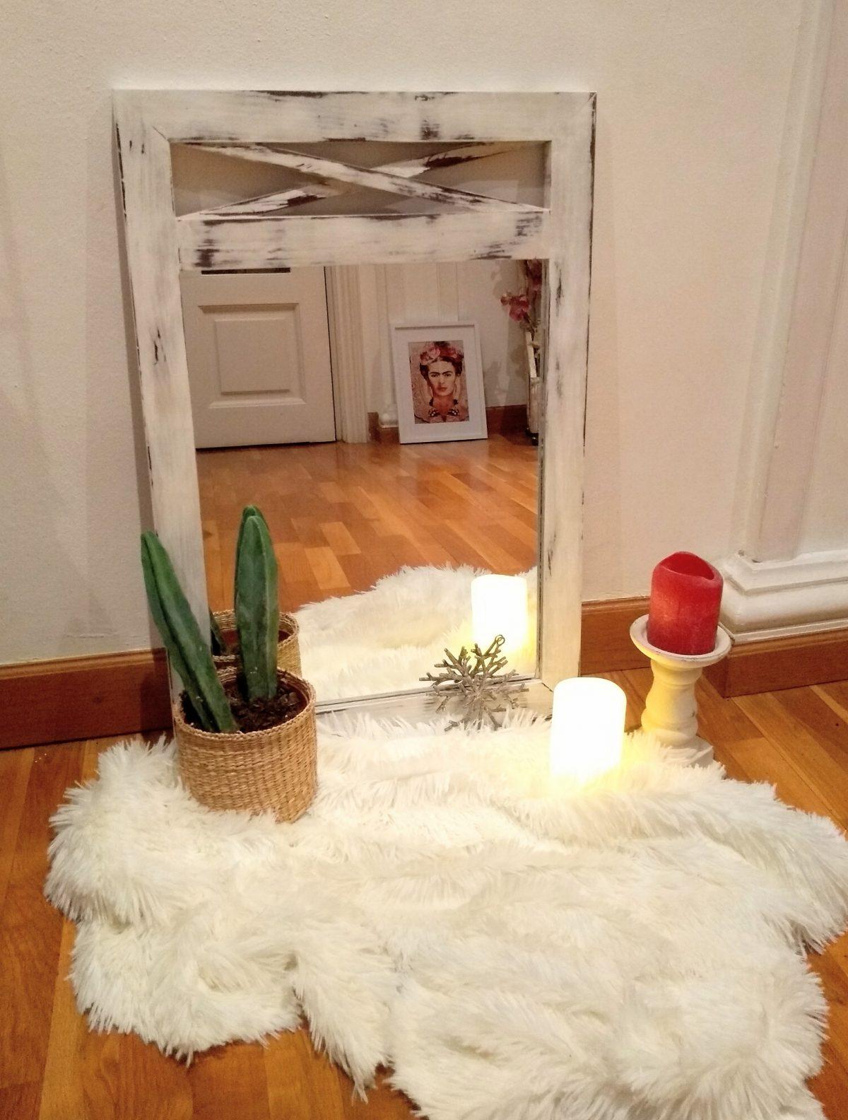 Espejo blanco estilo Romántico Rincón Vintage 1