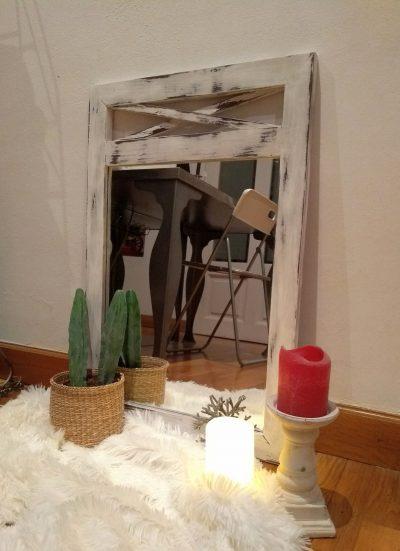 Espejo blanco decapado Rincón Vintage 2