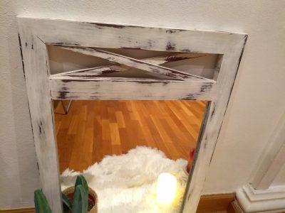 Espejo blanco decapado Rincón Vintage 3
