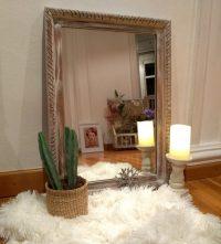 Espejo de madera desgastado Rincón Vintage 1