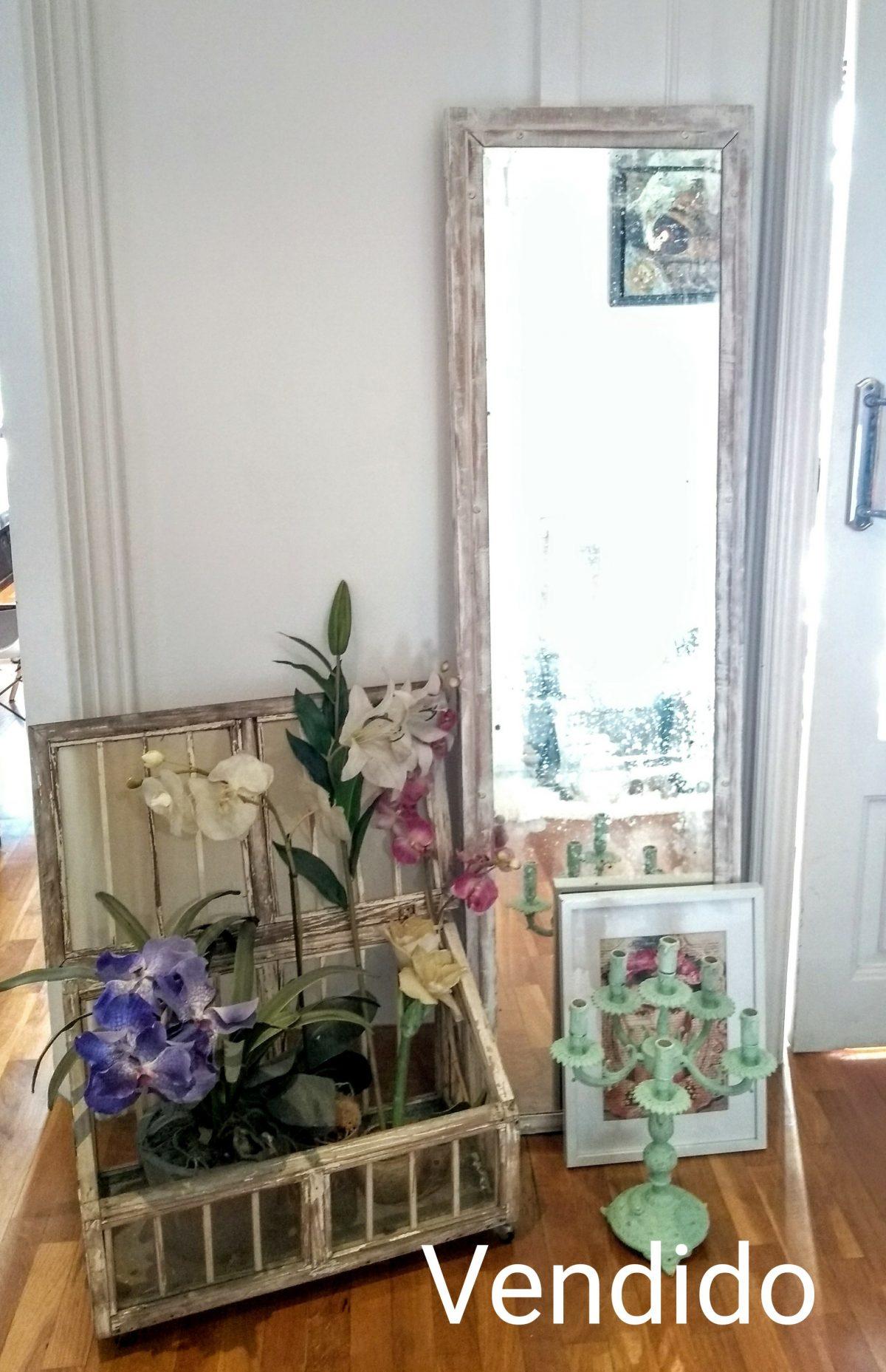 Espejo puerta de armario antiguo Rincón Vintage