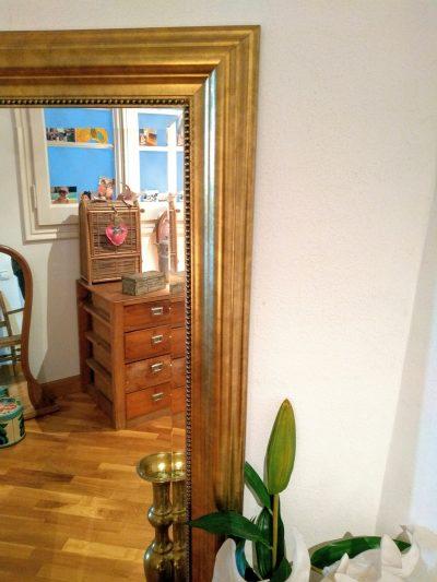 Espejo dorado de cuerpo entero Rincón Vintage