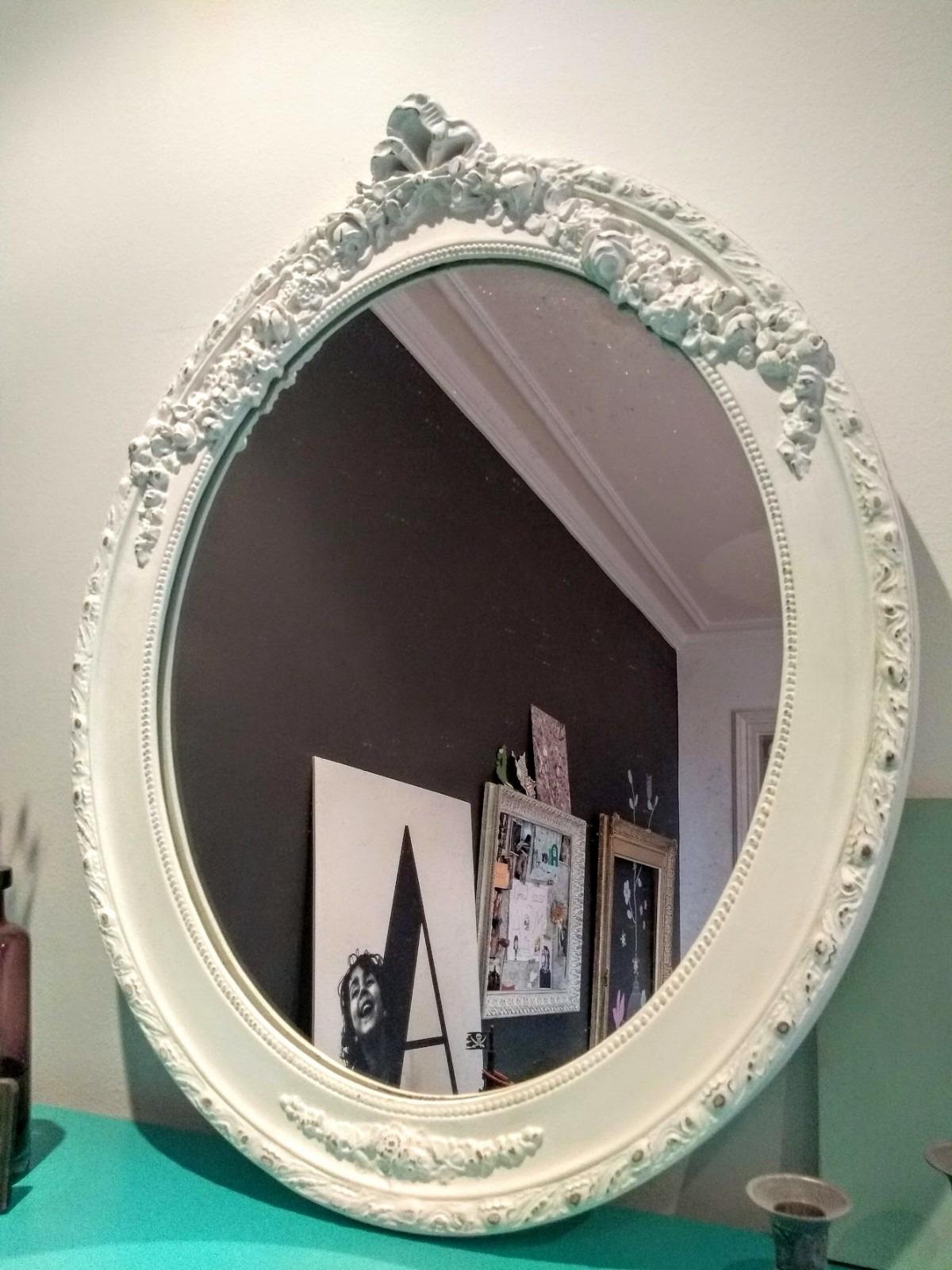 Espejo blanco estilo Romántico Rincón Vintage